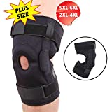 DISUPPO Large Knee Brace, Plus Size Maximum Knee Support with Hinged Stabilizer, Support