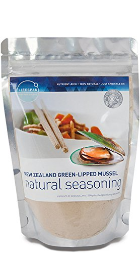 NZ GREEN LIPPED MUSSEL NATURAL SEASONING (200g)