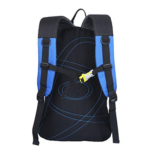 Xin Shu Hombros Al Aire Libre Alpinismo Deportes Mochila Bolsa De Hombro De Montar Senderismo Bolsa De Equipaje Bolsa De Estudiante. Multicolor Blue