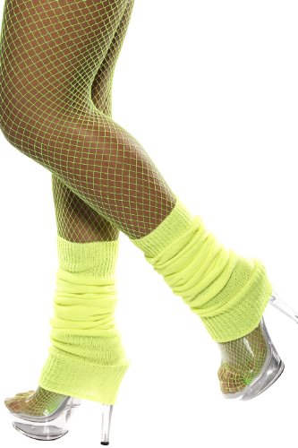 Smiffy's Neon Yellow Leg Warmers]()