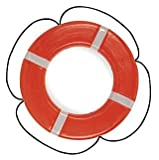 Taylor Made Products 569 USCG Polyethylene Foam Life Ring (24'', Orange)