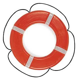 Taylor Made Products 569 USCG Polyethylene Foam Life Ring (24'', Orange)