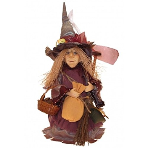 Witches of Pendle - Amelia Witch Standing (Burgundy) 24cm (Witch Standing)