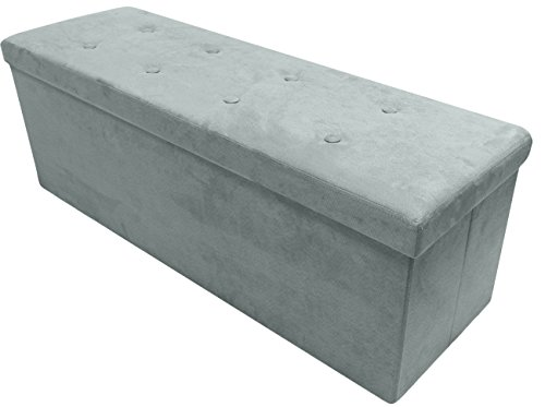 Sorbus Storage Ottoman Bench – Collapsible/Folding Bench Chest with Cover – Perfect Toy and Shoe Chest, Hope Chest, Pouffe Ottoman, Seat, Foot Rest, – Contemporary Faux Suede (Large-Bench, (Bedroom Contemporary Coffee Table)