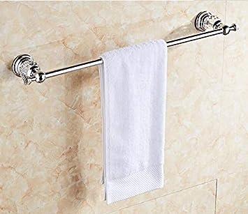 Joeesun Bathroom Accessories Chrome Crystal Towel Ring