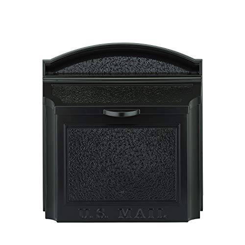(Whitehall Products 16140 Wall Mailbox, Black)