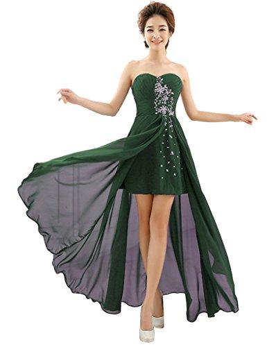 Vimans -  Vestito  - linea ad a - Donna Dark Green 46