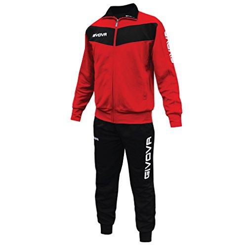 Givova Abbigliamento Sportivo Traicksuit Tuta Visa Rosso-nero 3XL