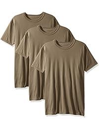 Men's 3-Pack Short Sleeve Crew Neck Military T-Shirt