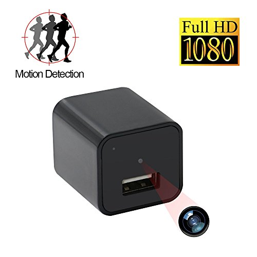Ztcolife HD 1080P Mini Surveillance Camera, Portable Hidden Camera &USB Charger Support Video record and Motion Detect, Home Security Camera With 32GB Internal Memory