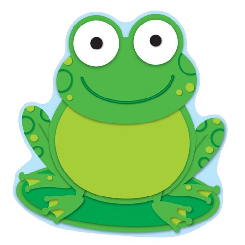 Carson Dellosa - Frog Colorful Cut-Outs, Classroom Décor, 36 - Colorful Outs Cd Cut