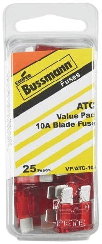 Bussmann (VP/ATC-10-RP) Red 10 Amp 32V Fast Acting ATC Blade Fuse, (Pack of 25)