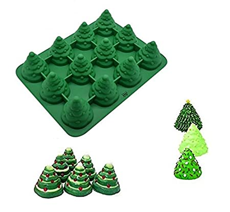 Mehome 3D Xmas Tree Silicone Mold Cake Mould Christmas Cookie Chocolate  Baking Mold Christmas Fondant Cake - Mehome 3D Xmas Tree Silicone Mold Cake Mould Christmas Cookie