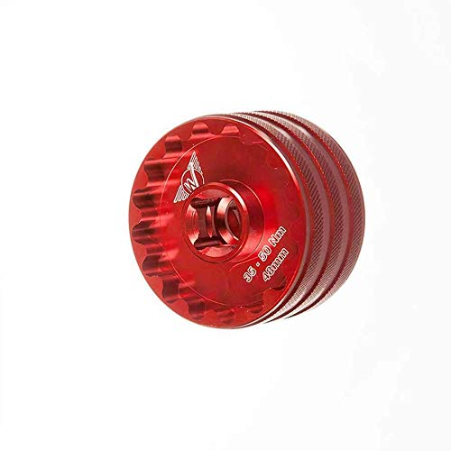 Cups Bottom Bracket Torque (Wheels Mfg Double Sided Bottom Bracket Socket Red, 16x48.5mm/16x44mm)