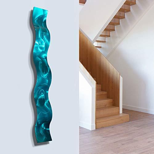 3D Abstract Metal Wall Art Sculpture Wave - Modern Home Décor by Jon Allen - 46.5