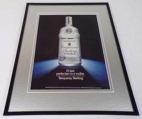 1989 Tanqueray Vodka Framed 11x14 ORIGINAL Vintage ()