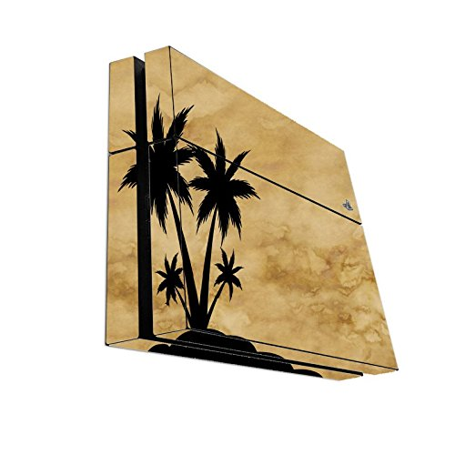 black-silhouette-island-on-parchment-background-playstation-4-ps4-console-vinyl-decal-sticker-skin-b