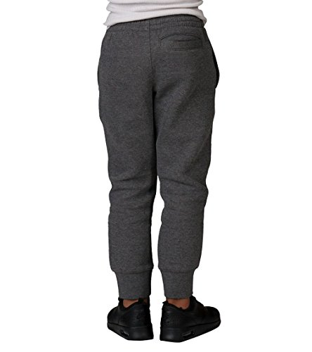 Nike Little Boys' Fleece Jogger Pants (Sizes 4 - 7) - Charcoal Heather, 6