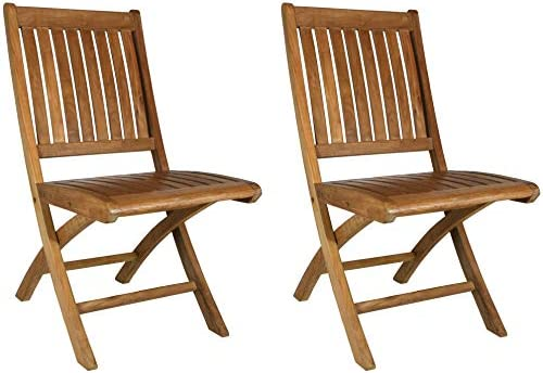 Teak Wood Santa Barbara Folding Outdoor Patio Dining Side Chair (Set of 2)  sc 1 st  Amazon.com & Amazon.com : Teak Wood Santa Barbara Folding Outdoor Patio Dining ...