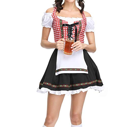 MIS1950s Women's Oktoberfest Costume Bavarian Beer Girl Maid Dress Halloween Costume for Halloween Costumes for Women Adult]()