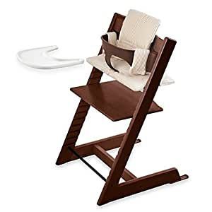 stokke tripp trapp walnut high chair complete