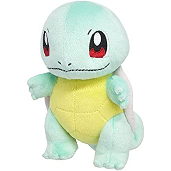 "Sanei Pokemon All Star Series PP19 Squirtle Stuffed Plush, 6"""