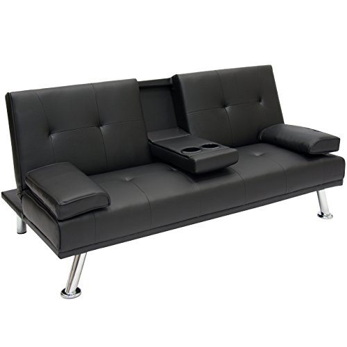 best-choice-products-modern-entertainment-futon-sofa-bed-fold-up-down-recliner-couch-with-cup-holder