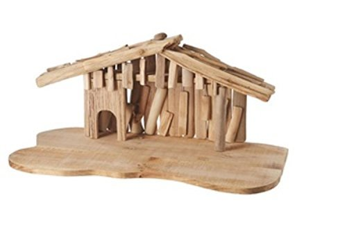 Midwest 24'' Wooden Religious Christmas Nativity Creche Decorations, Brown