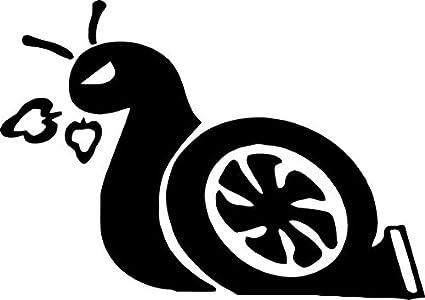 Car Truck Funny JDM Window Bumper Diecut Vinyl Decal Sticker Snail Turbo Boost