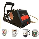 Heat Transfer Sublimation Mug Heat Press Transfer Printing Machine for Coffee Mugs Cups with One Stainless Steel Mug Attachment 11OZ