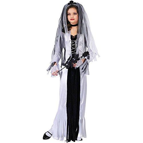 Dark Bride Costumes For Kids (Skeleton Bride Child Costume - Large)