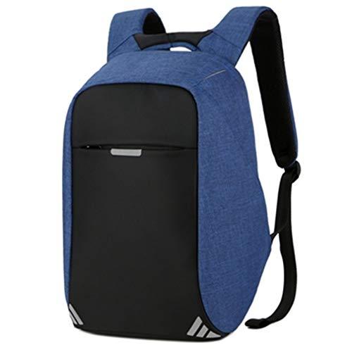Price comparison product image Men's Backpack Bag USB Charge Laptop Backpacks Teenager Male Mochila Women Leisure Travel Backpack Blue