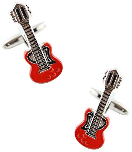 Cufflinks MasGemelos Guitare Rouge-Boutons de Manchette