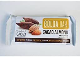 Golda Bar Whole Food Protein Bar, Cocoa Almond, 1.4375 Pound