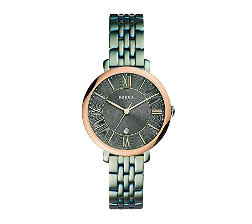 Fossil-Womens-Ionic-Plated-Green-Textured-Watch