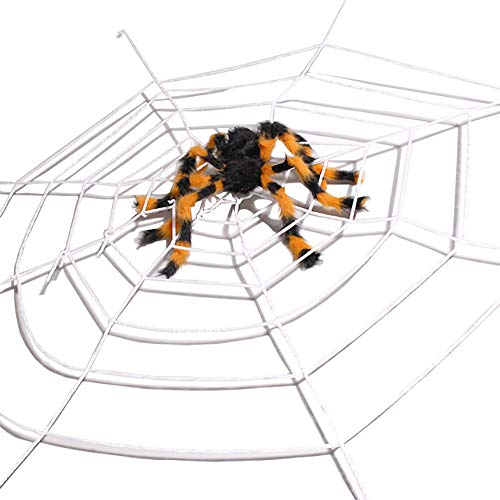 Bling Stars 5 Feet Giant Rope Spider Web for Halloween Decoration Party Favor (White) ()