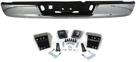 Chrome Rear Step Bumper Bar Assembly W//Black Pad Replacement CarPartsDepot 364-17144-20-CH CH1103108