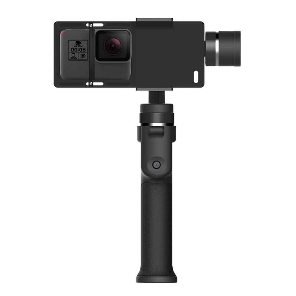 yanbirdfx ハンドヘルド スマートフォン ジンバル スタビライザー 携帯電話 アクションカメラ 自撮り棒用 - ブラック   B07MFTDJ4K