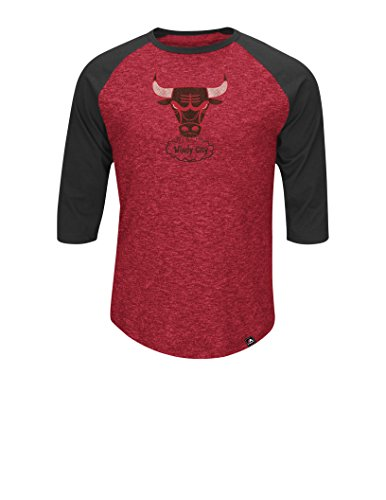 (NBA Chicago Bulls Men's Dont Judge Fashion Tops, Large, Hyper Athletic Red Pepper)