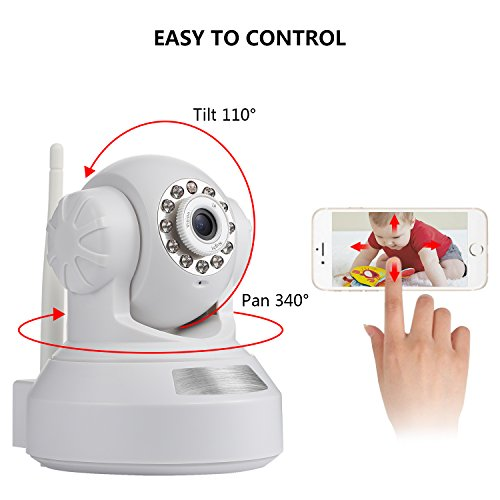 IP Camera, Nexgadget 720P Wireless Security Camera Home Surveillance Camera Pan Tilt with Two-Way Audio, Night Vision, Baby Pet Video Monitor Nanny Cam, Motion Detection P2P WiFi Network Camera, White