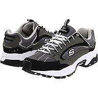 Zapatillas Skechers Sport Stamina Nuovo Cutback con cordones para hombre, color carbón /negro, 9 M NOS
