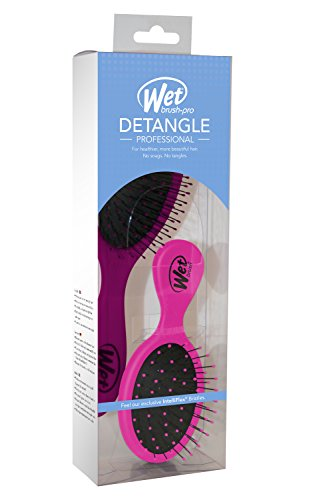 Duo Combo Wet Brush Lil Wet Brush Various Colors No TearsSnapsTangles
