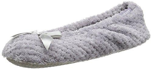 Isotoner Ladies Popcorn Ballet Slippers - Pantuflas para Mujer Grey (Pale Grey)