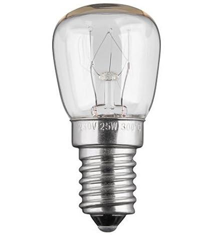 Bombilla para horno (E14, 25 W, 230 V, CA): Amazon.es: Iluminación