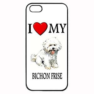 THYde Pink Ladoo? Custom Bichon Frise I Love My Dog Photo iPhone 6 4.7 Case Cover Hard Shell Back ending
