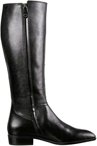 Geox D Lover C, Botas de Montar Para Mujer Schwarz (BLACKC9999)