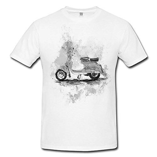 Vespa T-Shirt Herren, weiß mit Aufdruck
