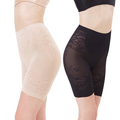 Tinksky Frauen Kurze Gamaschen Breathable Unterwäsche Shorts Boyshort Panty Unter Rock Shorts für Kleid Größe XL (Schwarz)