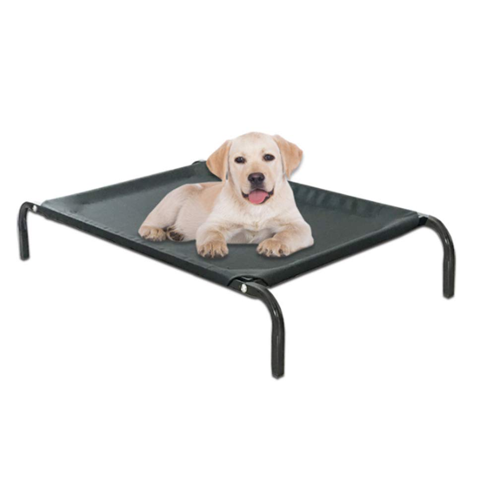 Medium WJX Pet Camp Bed,Four seasons folding pet supplies sleeping mat, Dog Portable Camping Cot Removable kennel ventilation mat(BLACK,S,M,L,XL),M