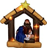 Airblown Inflatable 9 Ft Tall Nativity Scene